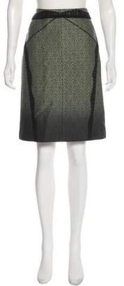 Zac Posen Lace-Trimmed Ombré Skirt
