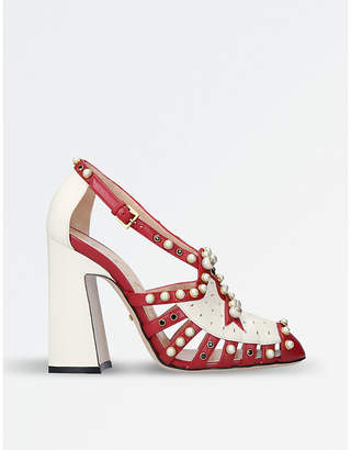 Gucci Tracy embellished leather sandals