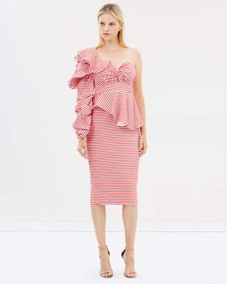 Asilio Epoch Stripe One Shoulder Dress