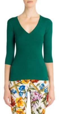 Dolce & Gabbana V-Neck Knit Top