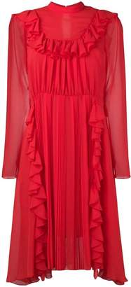 Dondup ruffled front dress