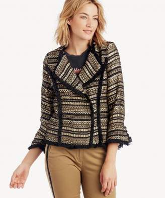 Sole Society Metallic Tweed Blazer
