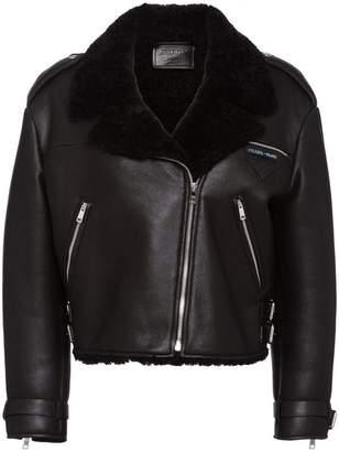 Prada off-centre zipped jacket