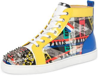 Christian Louboutin Louis Spikes High Top Sneaker