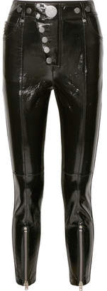 Alexander Wang Glossed-leather Skinny Pants - Black