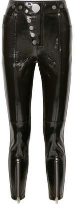 Alexander Wang - Glossed-leather Skinny Pants - Black