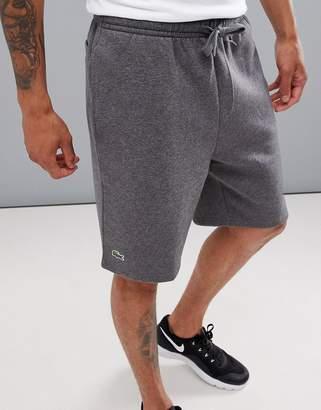 Lacoste Sport fleece shorts in gray
