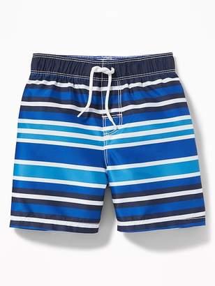 Old Navy Multi-Color Striped Swim Trunks for Toddler Boys