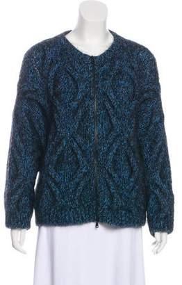 Brunello Cucinelli Wool-Blend Zip-Up Cardigan