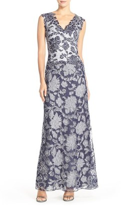 Women's Tadashi Shoji Embroidered Lace Gown $588 thestylecure.com