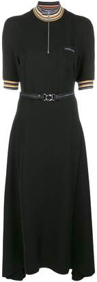 Prada long belted dress