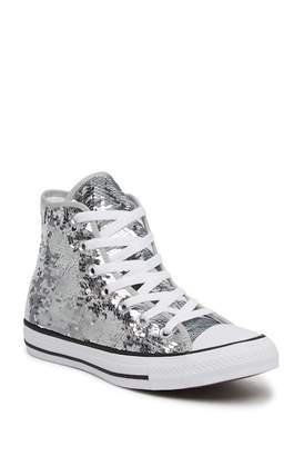 Converse Sequined High Top Chuck Taylor All Star Sneaker (Women)