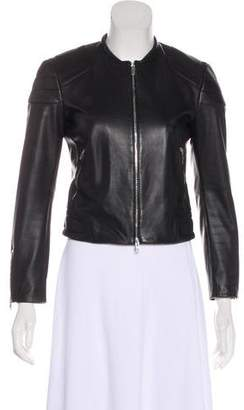 Rag & Bone Leather Zip-Up Jacket