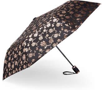Bebe Auto Open Metallic Rose Umbrella