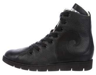 Walter Steiger Leather High-Top Sneakers