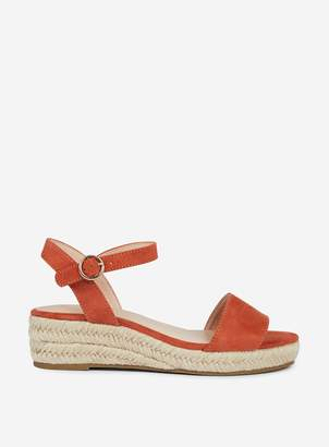 d4bf1297097 Dorothy Perkins Womens Wide Fit Orange  Rhiannon  Wedges