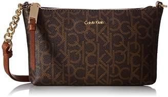 Calvin Klein Hayden Key Item Signature Top Zip Chain Crossbody