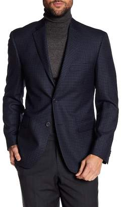 JB Britches Checkered Classic Fit Wool Sportcoat