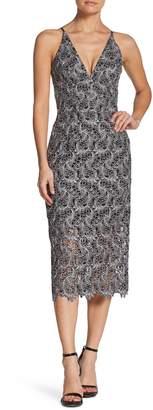 Dress the Population Aurora Lace Tea Length Dress