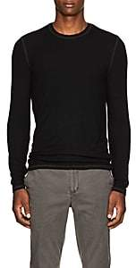 ATM Anthony Thomas Melillo MEN'S RIB-KNIT T-SHIRT - BLACK SIZE L