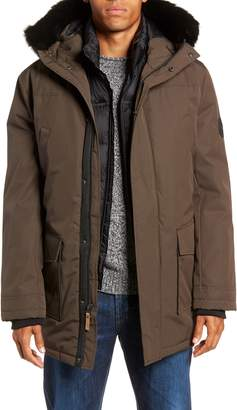 UGG Butte Water-Resistant Down Parka with Genuine Shearling Trim
