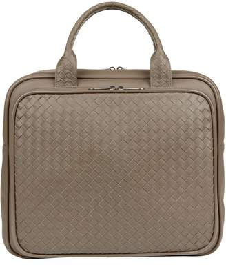 Bottega Veneta Leather Intrecciato Weekend Bag 4e09b91c0b