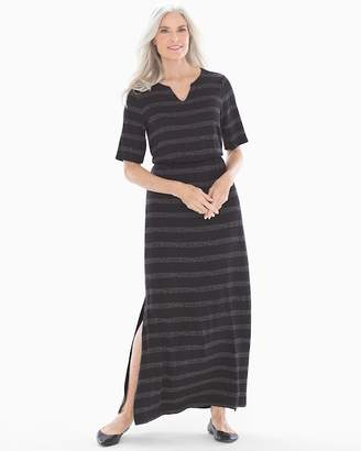 Soft Jersey Elbow Sleeve Maxi Dress