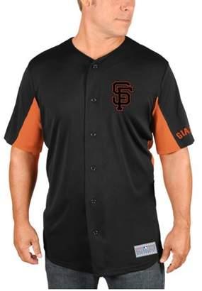 MLB San Francisco Giants Buster Posey Big Men's Short Sleeve Button Jersey, 2XL