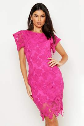 boohoo Crochet Lace Bodycon Mini Dress