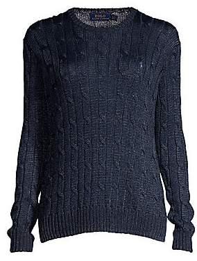 Polo Ralph Lauren Women's Metallic Cable-Knit Sweater