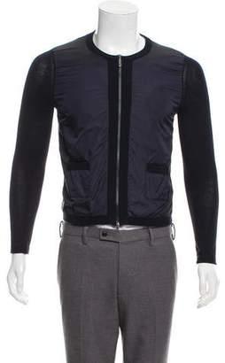 Moncler Knit Zip-Up Cardigan