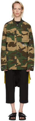 Off-White Off White Multicolor Camouflage Field Jacket