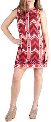 24/7 Comfort Apparel Sleeveless Mini Shift Dress