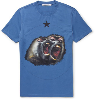 Givenchy Monkey Brothers Cuban-Fit Printed Cotton-Jersey T-Shirt $550 thestylecure.com