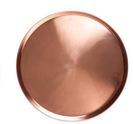 Jansen +co Tablett rund, kupferfarben, groß
