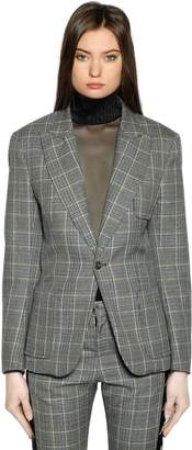 Faith Connexion Tailored Wool Prince Of Wales Blazer