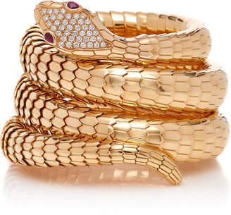 Sidney Garber 18K Rose Gold Il Serpente Diamond Bracelet