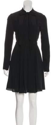 Valentino Silk Lace-Trimmed Dress w/ Tags