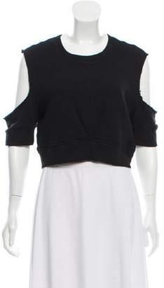 OAK Cold-Shoulder Knit Top