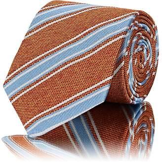 Barneys New York Men's Striped Textured-Silk Necktie