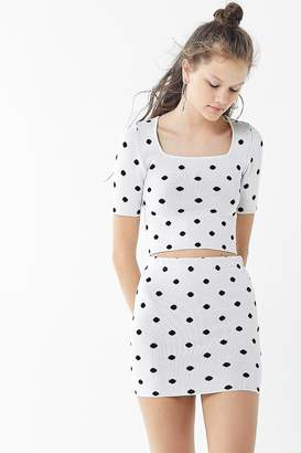 Urban Outfitters Polka Dot Bodycon Mini Skirt