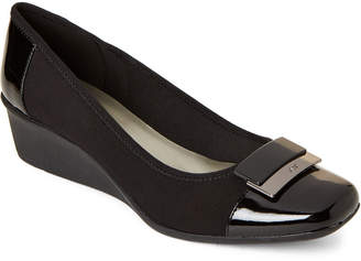 AK Anne Klein Sport Black Waverly Wedge Pumps