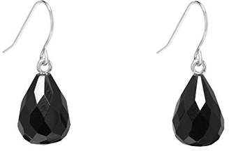 Lola Rose Women's Brass Katalina Facetted Black Agate Drop Earring