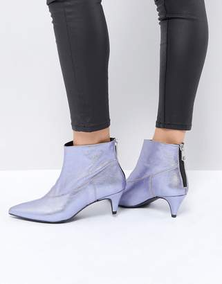 Gestuz Purple Metallic Boot