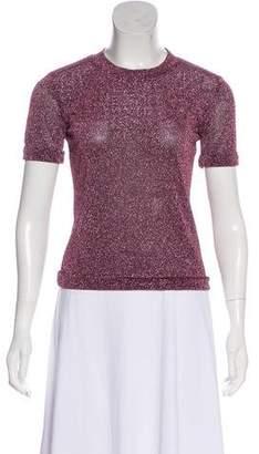 Sandy Liang Metallic Short Sleeve Top
