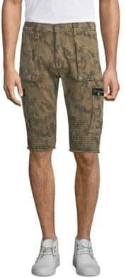 True Religion Touring Moto Camouflage Shorts
