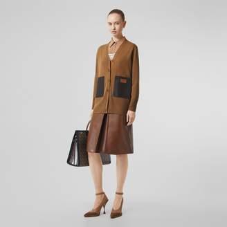 Burberry Lambskin Pocket Merino Wool Cardigan