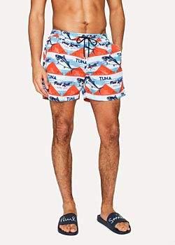 Paul Smith Men's 'Tuna' Print Swim Shorts