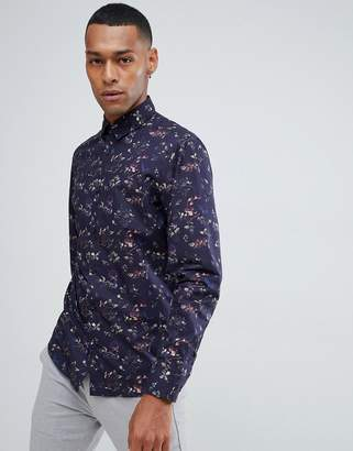 Selected Smart Shirt In Slim Fit All Over Floral Print