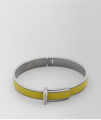 Bottega Veneta Chamomile Oxidized Silver/Enamel Bracelet